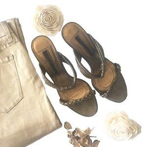 Laundry Shelli Segal ❃ Braid Strappy Heel Sandal